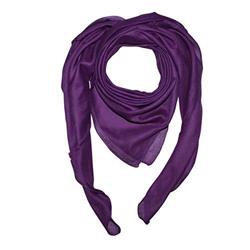 Superfreak Baumwolltuch - Tuch - Schal - 100x100 cm - 100% Baumwolle, Farbe lila