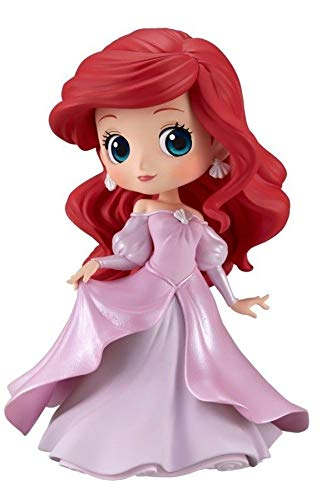 Figur Sammlung Ariel Kleine Meerjungfrau 14cm - Kleid Prinzessin Rosa Farbe Little Mermaid - Serie QPOSKET Banpresto Disney Characters Princess Dress - Version B