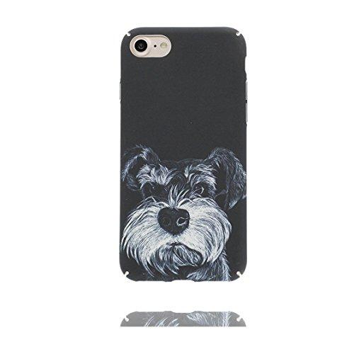 iPhone 7 Custodia, morbida guarnizione TPU in gomma antigraffio protettiva Case iPhone 7 copertura 4.7 Cover [ Sottile ] [Peso leggero] [ Schnauzer cane Dog ] color 8