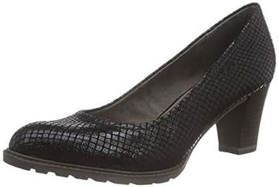 Tamaris  1-1-22437-25 006, Chaussures à talons - Avant du pieds couvert femmes - Noir - Schwarz (Black Struct. 006), 41 EU