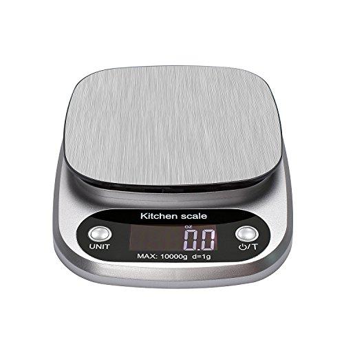 Vovoly Digitale Waage 10kg Maximalgewicht mit hoher Genauigkeit, großem LCD-Display