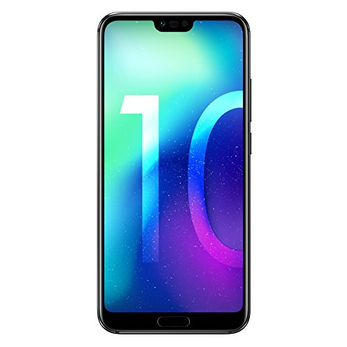 "Honor 10 5.84"" Dual SIM 4G 4GB 64GB 3400mAh Black - Smartphones (14.8 cm (5.84""), 64 GB, 24 MP, Android, 8.0 Oreo + EMUI 8.1, Black)"