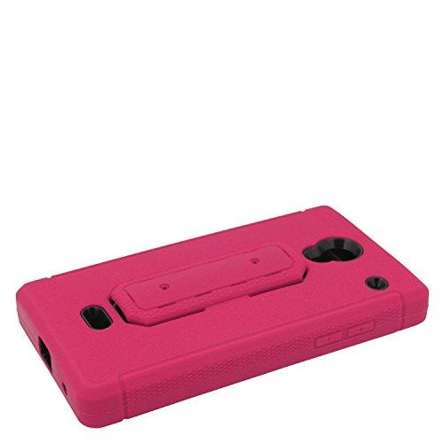 Eagle Cell Sharp Aquos Schutzhülle mit Hybrid-Ständer, Hot Pink/Schwarz