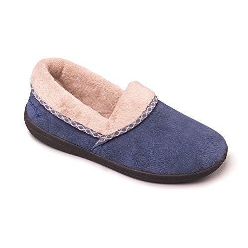 scarpe da donna Padders 'soft' | Larghezza G | 20 millimetri tallone | calzascarpe libero blu denim