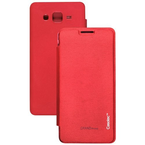 Casotec Premium Flip Case Cover for Samsung Galaxy Grand Prime G530 - Red  available at amazon for Rs.125