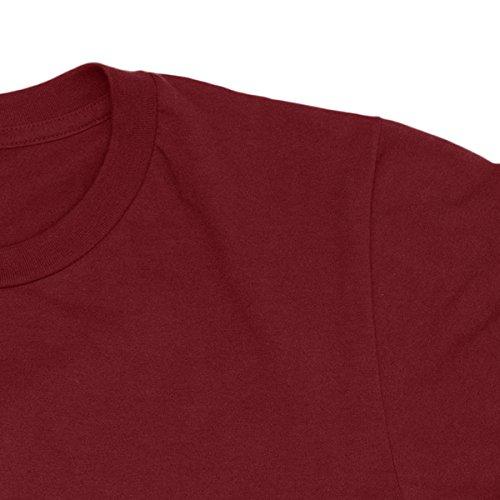 Herren-T-shirt 8-bit Generation - 100% bauwolle LaMAGLIERIA Bordeaux
