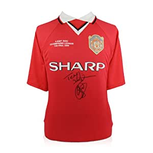 Teddy Sheringham & Ole Gunnar Solskjaer Signed 1999 Manchester United Champions League Shirt