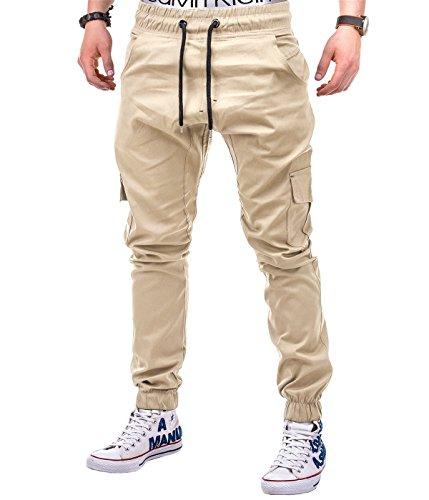 BetterStylz Herren Cargo Chino Jogginghose MasonBZ Slim Fit mit Seitentaschen