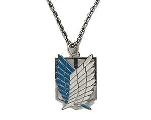 Attaque sur Titan Shingeki pas Kyojin collier d'aile , Argent
