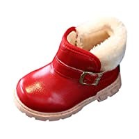 Ankle Boots for Children, Hotsell〔^ㄥ^〕Baby Kids Boys Girls Fur Lined Ankle Boots Waterproof Snow Boots Winter Snow Warm Booties Child Chelsea Shoes