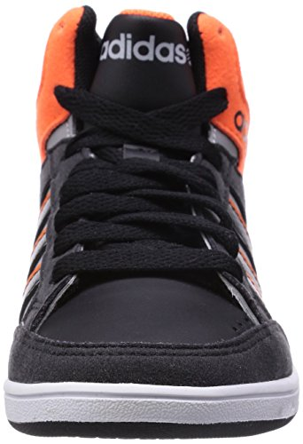 adidas Hoops Team Mid, Baskets hautes mixte enfant Clear Onix/Core Black/Solar Orange