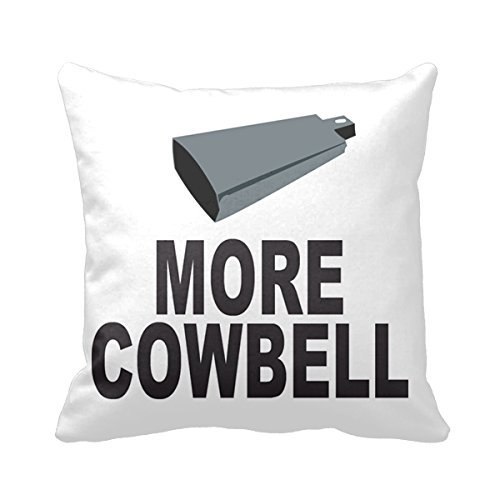 Lepilo SNL More Cowbell 18 X 18 Inches Cotton Polyester Square Decorative Throw Pillow Case Zippered Cushion Cover (Twin Sides)