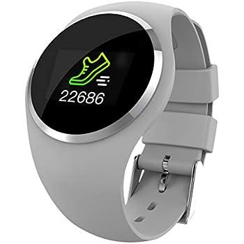UKCOCO Reloj Inteligente Bluetooth, monitorización del sueño con Ritmo cardíaco Resistente al Agua, Cuenta de Pasos Rastreador Deportivo de Ejercicios ...