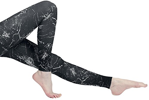Urban Classics Damen Ladies Sprinkled Leggings black-white (TB909-00050)