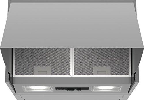 Neff D61MAC1X0/DMAC611X/Dunstabzugshaube/Zwischenbauhaube/59,9 cm/Silber/Drucktasten für 3 Leistungsstufen