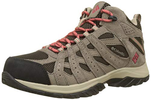 Columbia Canyon Point Mid Waterproof, Scarpe da Trekking Impermeabili Donna, Marrone (Cordovan/Sunset red), 37 EU