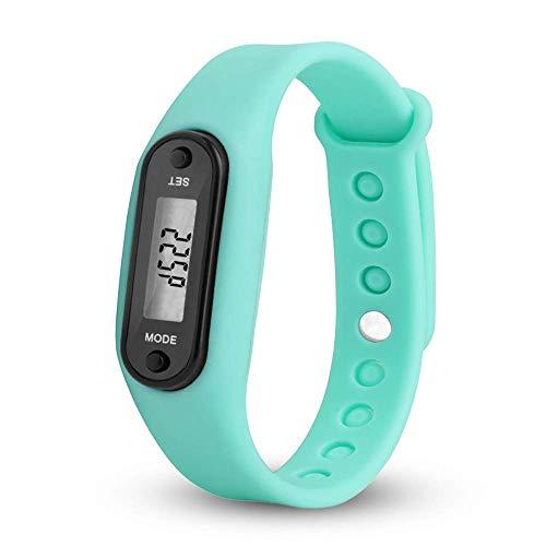 Mosstars Armbanduhr Slim Uhr Armbanduhr Uhr Run Step Watch Armband Schrittzähler Kalorienzähler Digital LCD Gehweg Armbandtisch (Weiß)