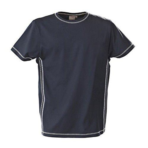 noTrash2003 Herren Funktions Training und Sport Shirt Atmungsaktiv Aus Polyester mit Flatlock Nähten Kurzarm RundhalsS - 3XL Blau