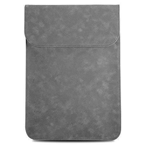 TECOOL 15 Zoll Laptop Hülle Tasche, Faux Wildleder Leder Schutzhülle für MacBook pro 15, 15-15.6 Inch Dell Inspiron, Lenovo Ideapad 330s, ASUS Chromebook, HP Pavilion x360, Grau - Wildleder-laptop-tasche