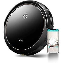 Aspirateur Robot Connecté Wi-Fi, modes de nettoyage 6 en 1,Station de chargement, navigation laser, Autonomie de 120 minutes pour Tapis et Sols Durs