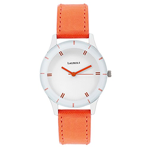 Laurels Analog White Dial Women's Watch - Lo-Colors-1002