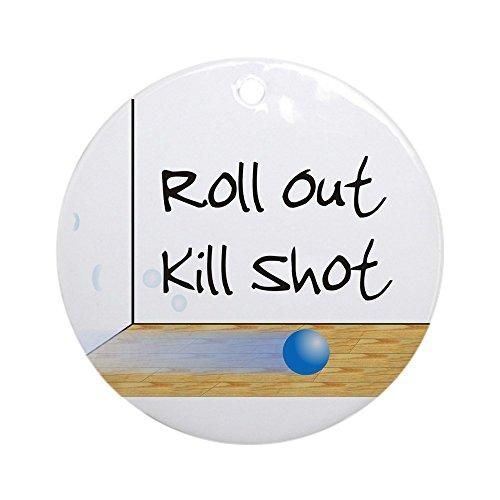 CafePress–adorno de racquetball Roll Out (redondo)–redondo vacaciones Navidad adorno