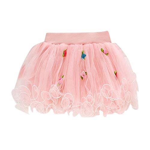 KIMODO Baby Mädchen Tüllrock Tutu Ballettrock Faltenrock, Kurz Ballett Verkleiden Ballrock Gown Kuchenrock Fee Tüll Tütü 0-24 - Fee Jugendlichen Kostüm