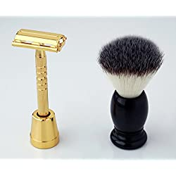 Pearl Shaving Men's/Boy's Razor & Brush Sets SRS-LS01GOLD11