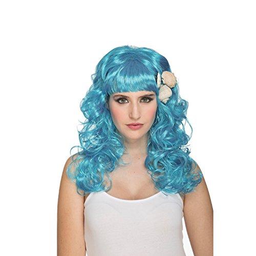 viving Kostüme viving costumes204631Meerjungfrau Perücke in Blau (One Size)