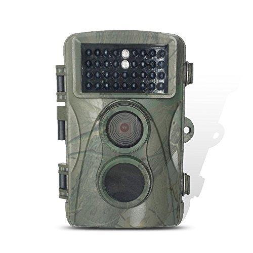 """Homestec 8MP 720P HD Wildkamera 120° Breite Wild-Vision Infrarote 20m Nachtsicht 1.3"""" LCD Jagdkamera Jagdzeug Überwachungskamera mit 34 PC IR LEDs für Nacht Vision"""