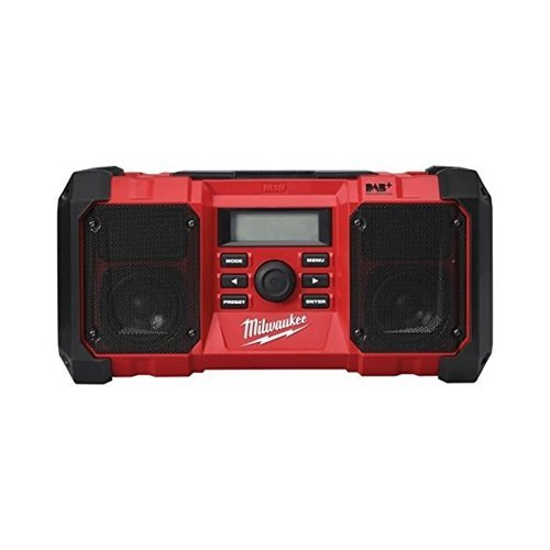 The Milwaukee 4933451252 18v Jobsite DAB Radio is the product of choice for those seeking a high-performance audio system with DAB+/FM tuner. Its integrated digital processor delivers exceptional reception accuracy plus signal clarity. Let's not forget the obvious benefit of DAB, which is the fact that it displays song information. The sound quality coming from its two speakers is also of the highest standard.