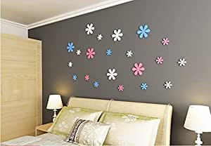 xl wandtattoo rosa blumen magnolien blume baum pflanzen wand sticker aufkleber heim dekoration. Black Bedroom Furniture Sets. Home Design Ideas