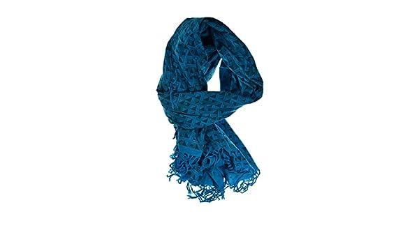 a4101e0ba96 Echarpe femme turquoise labyrinthe grand - taille unique  Amazon.fr   Vêtements et accessoires