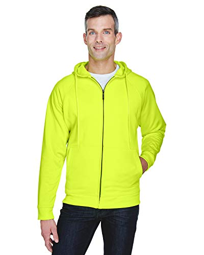 Adult Rugged Wear Thermal-Lined Full-Zip Hooded Fleece LIME 4XL Zip-hooded Thermal