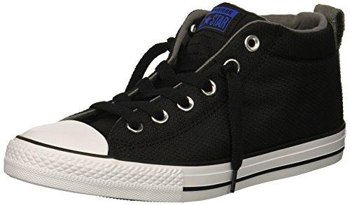 Converse Boys' Chuck Taylor All Star Street Mid Sneaker, Black, 3 M US Little Kid
