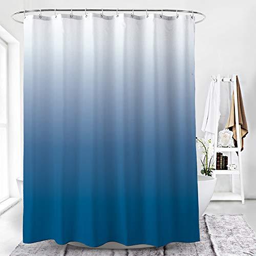 SONGHJ Dickem Polyester Duschvorhang Einfarbig Farbverlauf Druck Wasserdicht Mehltau Duschvorhang Home Hotel Partition Vorhang