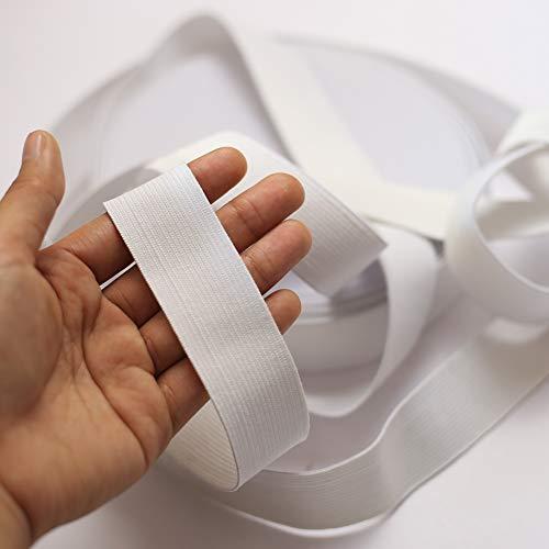 DAHI Gummiband 20 Meter Elastisches Band breite 3cm Wäschegummi Gummizug Gummilitze (20meter/3cm Weiss) - Breite 3
