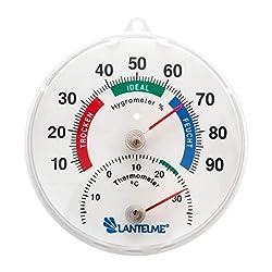 Lantelme 4127 Kombi Thermometer/Hygrometer Analog Durchmsser 11,5 cm