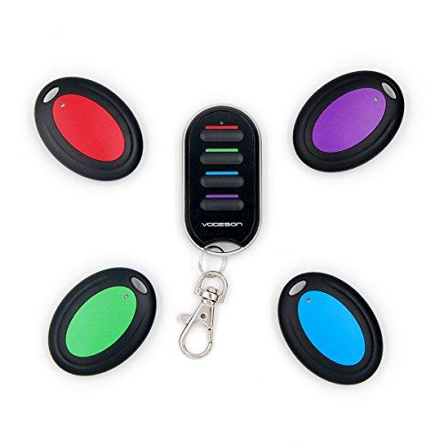 VODESON Schlüsselfinder Wireless Key Finder mit 4 Empfängern RF Item Locator, Item Tracker Support Fernbedienung, Haustier Tracker, Wallet Tracker, gute Idee für Ihre verlorenen Gegenstände
