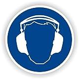 Gehörschutz tragen / Gebotszeichen / GE-04 / Sicherheitszeichen / Piktogramme / DIN EN ISO 7010 (5cm)