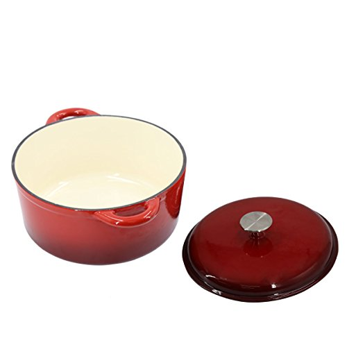 Cast Iron Casserole with Lid Cooking Pot Casserole With Lid Casserole Pure REINDL Cast Cooking Pot Casserole Dish Oven Pot Induction Casserole Dish Baking Pan | ToCi Big Premium BBQ Cooking Accessories 26cm rund SS