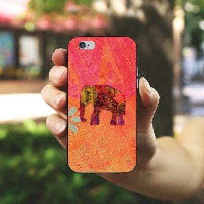 Apple iPhone X Silikon Hülle Case Schutzhülle Elefant Goa Indien Silikon Case schwarz / weiß