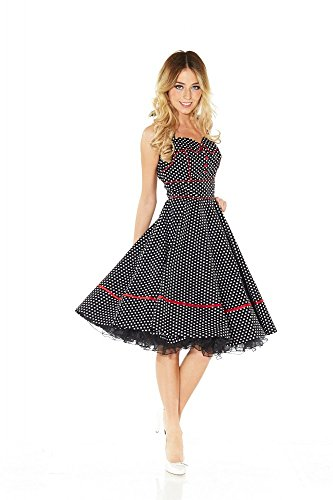 50er Jahre Rockabilly Kleid INKLUSIVE PETTICOAT Vintage Retro Polka Dot – Patsy - 2