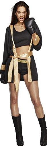 Fever Damen Knockout Kostüm, Top, Shorts, Jacke und Handschuhe, Größe: S, 31126