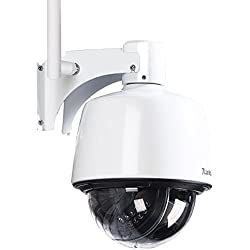 7links Kameras: Dome-IP-Kamera IPC-400.HD für Outdoor, IR-Nachtsicht, 720p, IP66 (PTZ Camera)