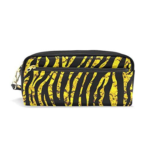 Ahomy Stifteetui, Tiger oder Zebra, Doppelreißverschluss, groß, für Make-up, Kosmetik, Schreibwaren