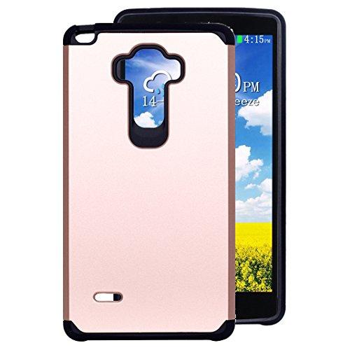 Preisvergleich Produktbild LG G4 Stylus LS770 Hülle Outdoor Rosa Schleife® PC Hard Back Cover Weich Silikon Bumper mit Dual Layer Schutz Hybrid Case Schutzhülle Handyhülle für LG G4 Stylus / LG G Stylo / LS770 (5.7 Zoll)