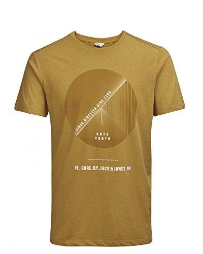 JACK & JONES Herren T-Shirt Jcolenz Tee Ss Crew Neck Golden Orange (12123102)