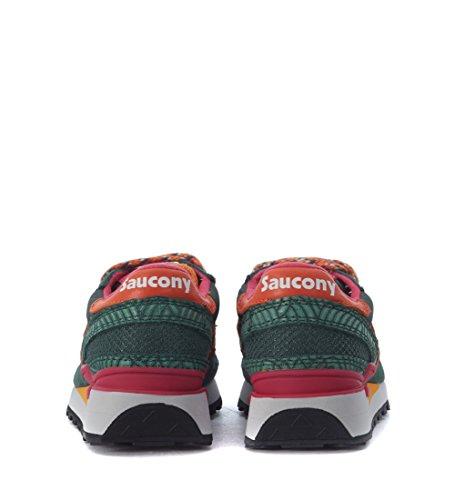 Basket Saucony Shadow Limited Edition en suede et nylon vert Multicolore
