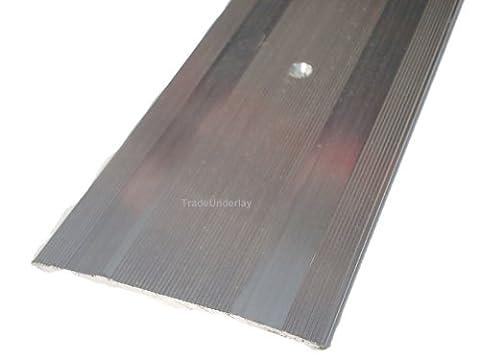 Carpet cover extra-wide silver door trim 60mm x 2.7mtr long